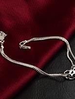 Femme Chaînes & Bracelets Mode Vintage Argent sterling Forme de Cercle Bijoux Pour Mariage Quotidien Fiançailles Soirée