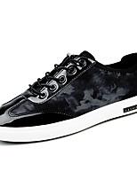 Для мужчин Кеды Удобная обувь Светодиодные подошвы Тюль Лето Осень Повседневные Удобная обувь Светодиодные подошвы ШнуровкаНа плоской
