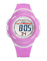 Kid's Sport Watch Digital Watch Digital Water Resistant / Water Proof Noctilucent Rubber Band Blue Red Green Purple