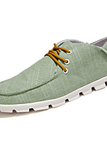 Men's Sneakers Comfort Spring Fall PU Outdoor Beige Gray Green Blue Flat