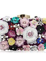 L.WEST Woman Fashion Luxury High-grade Bead Flower Evening Bag