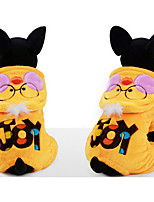 Dog Hoodie Dog Clothes Casual/Daily Cartoon Yellow