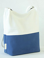 Women Shoulder Bag Linen All Seasons Casual Outdoor Round Without Zipper Blue