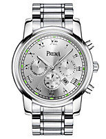 Men's Fashion Watch Quartz Calendar Water Resistant / Water Proof Alloy Band Silver