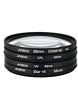 Andoer 58mm uv cpl close-up4 star filtro de 8 pontos filtro circular filtro circular polarizador filtro macro close-up estrela filtro de 8