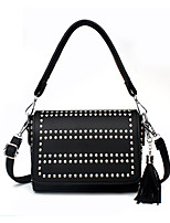 IMBETTUY Women's Fashion Rivets PU Leather Messenger Shoulder Bags