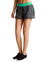 Women's Running Shorts Quick Dry Breathable Wearproof Baggy shorts for Running/Jogging Yoga Exercise & Fitness Terylene Loose Gray+Green