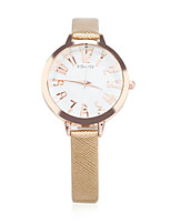 Жен. Модные часы Кварцевый Кожа Группа Золотистый
