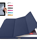 Pour apple ipad pro 10.5 ipad (2017) housse de protection magnétique auto sommeil réveil corps entier solide couleur dure pour Apple ipad
