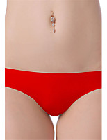Women's Sexy Seamless Lingerie Ultra-thin Briefs Low Waist Nightwear Panties Plus Size M-3XL