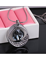 Women's Pendant Necklaces Irregular Rhinestones Alloy Dangling Style Jewelry ForWedding Party Special Occasion