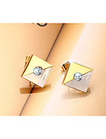 Women's Earrings  Classic Elegant Rhinestone Titanium Steel Square Jewelry For Wedding Anniversary Birthday Party/Evening