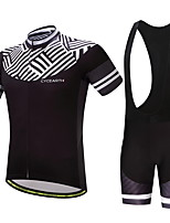CYCEARTH Cycling Jersey Bib Shorts Pants Short Sleeve Men's Bike Clothing Suits Set Summer Breathable Bicycle Clothes Wear Gel Pad