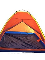 3-4 persons Tent Single Fold Tent One Room Camping Tent 1000-1500 mm Glass fiber Terylene Waterproof Rain-Proof Dust Proof Foldable-