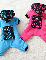 Dog Clothes/Jumpsuit Dog Clothes Casual/Daily Stars Fuchsia Blue