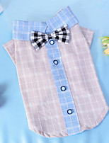 Dog Shirt / T-Shirt Dog Clothes Casual/Daily Plaid/Check Black Ruby