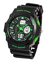Men's Sport Watch Digital Rubber Band Black Green