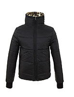 Пальто Уличный стиль Короткая Пуховик Для мужчин,Однотонный Леопард На каждый день Акрил Полипропилен,Длинный рукав
