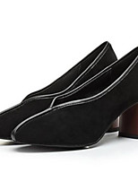 Women's Heels Basic Pump Real Leather Fall Winter Casual Black Almond Under 1in