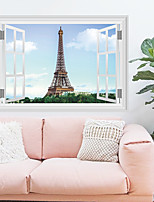 Romance De moda Paisaje Pegatinas de pared Calcomanías 3D para Pared Calcomanías Decorativas de Pared Material Decoración hogareñaVinilos