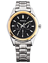Men's Dress Watch Fashion Watch Quartz Water Resistant / Water Proof Alloy Band Silver Gold