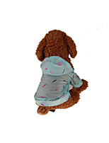 Dog Hoodie Dog Clothes Casual/Daily Lips Light Blue Blushing Pink Yellow White