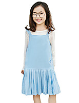 Girl's Solid Dress,Polyester Autumn/Fall Summer Sleeveless
