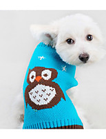 Dog Sweater Dog Clothes Casual/Daily Cartoon Orange Blue