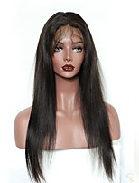 120% Density Lace Front Human Hair Wigs For Black Women Straight Brazilian Remy Hair Natural Black Color