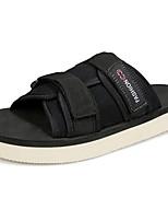 Men's Sandals Comfort PU Spring Fall Outdoor Comfort Flat Heel Dark Brown Blue Green Black Flat