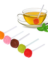 Lollipop Silicone Sweet Tea Infuser Candy Loose Leaf Mug Strainer Cup Steeper for Tea Coffee Random Color