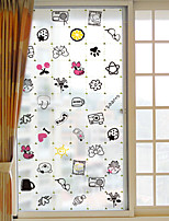Window Film Window Decals Style Cute Cartoon Grind Arenaceous PVC Window Film- (60 x 116)cm