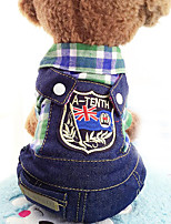 Dog Clothes/Jumpsuit Dog Clothes Casual/Daily Jeans Purple Red Green