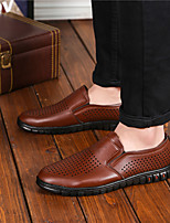 Men's Sandals Comfort Real Leather Summer Casual Comfort Brown Black Flat
