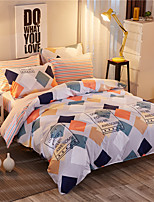 Duvet Cover Set 1pc Duvet Cover 1pc Bed Sheet Set 2  pcs Pillowcase Bedding Set Plaid/Checkered
