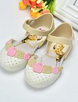 Girls' Sandals Comfort PVC Summer Casual Comfort Blushing Pink White Flat