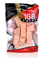 24pcs Soft Cheap Sponge Material Foundation Powder Puff Three Shape