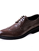 Men's Wedding Shoes Formal Shoes Cowhide Leather Spring Fall Casual Office & Career Party & Evening Formal Shoes Brown Black Flat