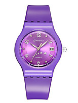 Kid's Sport Watch Quartz Calendar Water Resistant / Water Proof Rubber Band Pink Purple Yellow