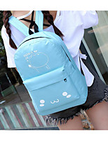Women Shoulder Bag PU Canvas All Seasons Casual Outdoor Round Zipper Gray Black Blue