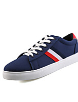 Men's Sneakers Comfort Mary Jane Fall Winter Canvas Athletic Casual Outdoor Lace-up Flat Heel White Black Blue Flat