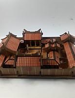 Puzzles Puzzles 3D Blocs de Construction Jouets DIY  Architecture Chinoise Maison Bois