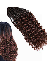 Ombre Senegalese Twist Crochet Braid Hair Synthetic Two Tone Afro Pre-twist Flashy curl Braiding Braid Hair Extension