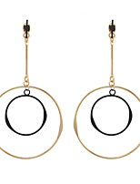 Drop Earrings Women's EuramericanNew Fashion Gold Silver Color Circle Round Drop Earrings Statement Earring Party Jewelry