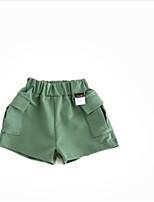 Para Meninos Shorts Cor Única Verão