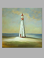 IARTS® Hand Painted Abstract Oil Painting Modern Light House Island Painting with Stretched Frame For Home Decoration Ready To Hang