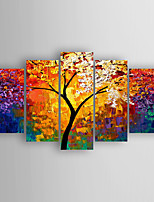 Hand-Painted Decoration Landscape of set 5 by Knife Oil Painting With Stretcher For Home Decoration Ready to Hang