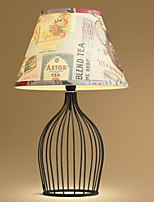 Nordic American Iron Bedroom Table Lamp Modern Simple Lamp