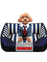Dog Bed Pet Mats & Pads Stripe Warm Soft Red Blue Blushing Pink