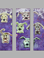 IARTS® Oil Painting Multi-Dog Tritych Wall Art Acrylic Canvas Wall Art For Home Decoration